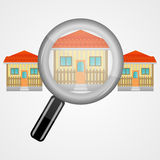 Search house Royalty Free Stock Photography