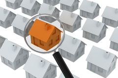 Search house Royalty Free Stock Images
