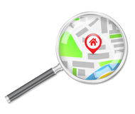 Search for house. Search for a house concept Stock Photography