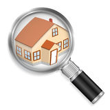 Search House Royalty Free Stock Image