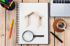 Search For House or Flat, Real Estate Concept Royalty Free Stock Photo