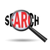 Search icon. On white background Stock Photos