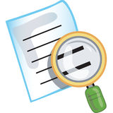 Search icon. Stylized search icon or symbol with magnifying glass Royalty Free Stock Images
