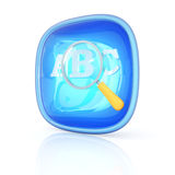 Search icon 3d. Hi-res digitally generated image Royalty Free Stock Photo