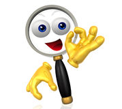 Search icon character Royalty Free Stock Photography