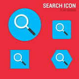 Search icon flat design Royalty Free Stock Images