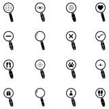 Search icon set. The search of icon set Stock Image