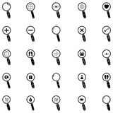 Search icon set. The search of icon set Stock Images