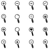 Search icon set. The search of icon set Royalty Free Stock Photos