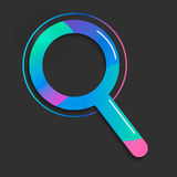 Search icon. Vector Illustration gradient geometric style.  Royalty Free Stock Image