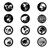 Search icon,world map sign,vision concept .(credit Royalty Free Stock Images