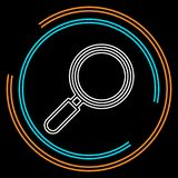 Search icon - zoom symbol, magnifying glass royalty free illustration