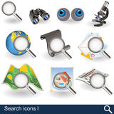 Search icons 1 Royalty Free Stock Images