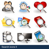 Search icons 2 Royalty Free Stock Photos