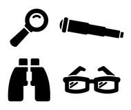 Search icons Stock Image