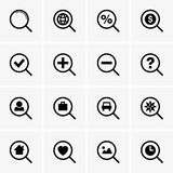 Search icons Stock Photo