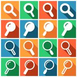 Search icons Stock Photography