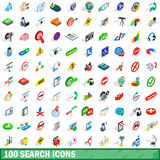 100 search icons set, isometric 3d style Stock Images