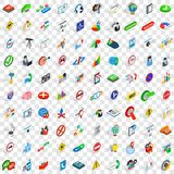 100 search icons set, isometric 3d style. 100 search icons set in isometric 3d style for any design vector illustration Royalty Free Stock Images
