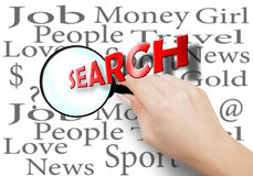 Search is an integral part of everyone's life Royalty Free Stock Photography