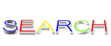 Search on Internet. Search engine for your design Royalty Free Stock Photography