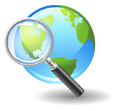 Search on internet. Vector icon search on internet Royalty Free Stock Images
