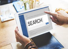 Search Internet Browse Information SEO Concept Royalty Free Stock Photography