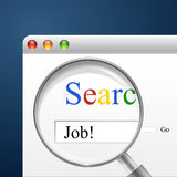 Search for Job. Search job? start searching for your future job Royalty Free Stock Photos