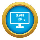 Search Job icon blue vector isolated. On white background for any design royalty free illustration
