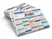 Search job. Newspapers with advertisments. royalty free illustration