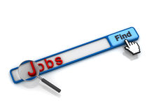 Search jobs online concept Royalty Free Stock Photography