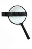 Search (keyboard keys) and magnify glass Stock Image
