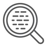 Search line icon, magnifier and find, optical sign. Vector graphics, a linear pattern on a white background, eps 10 Stock Photo