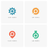 Search logo set Stock Image