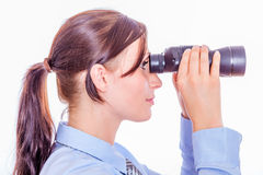 Search. Looking for new business clients stock photography