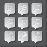 Search With Lupe.Flat style square icon Stock Image