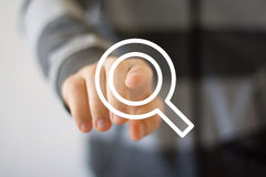 Search magnifier business web communication loupe Stock Photos