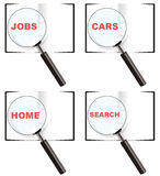 Search magnifier glass logos Royalty Free Stock Photo