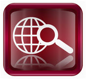 Search and magnifier icon Royalty Free Stock Photos
