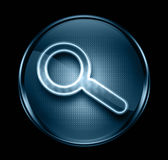 Search and magnifier icon dark blue Royalty Free Stock Images