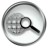 Search and magnifier icon grey Royalty Free Stock Images