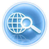 Search and magnifier icon ice Stock Image