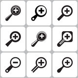 Search Magnifier Icons Stock Photos