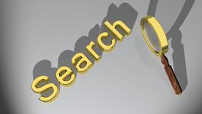 Search with magnifier Stock Photo