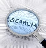 Search with a magnifying glass Stock Images
