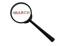 Search magnifying glass Royalty Free Stock Photos