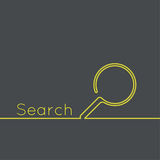 Search with a magnifying glass. Royalty Free Stock Photography