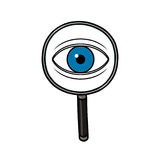 Search magnifying glass illustration Stock Photo
