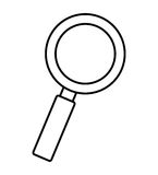 search magnifying glass flat line icon Royalty Free Stock Images