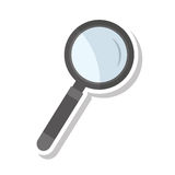 search magnifying glass flat line icon Royalty Free Stock Photography